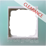 CLEARANCE ITEM - GIRA Event Cover frame 1-gang, opaque mint for pure white